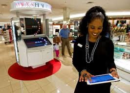 pamela floyd a beauty department concierge at macy s in the memorial city mall uses
