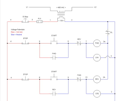 ez schematic diagram software electrical schematic software example forward reverse starter circuit