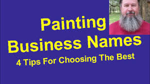 painting business names