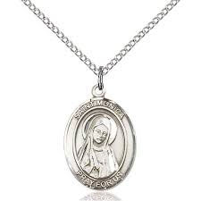 st monica medal necklace