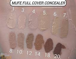 makeup forever m u f e full cover concealer swatches