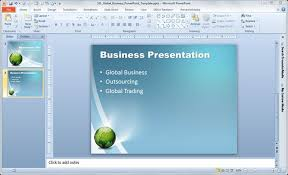 Free Business Templates For Powerpoint Free Global Business Powerpoint Template