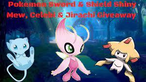 Pokemon Sword & Shield Shiny Mew, Celebi & Jirachi Giveaway - YouTube