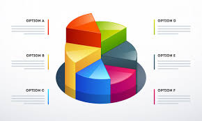3d Pie Chart Template 3d Pie Chart In Different Growth Steps For Business