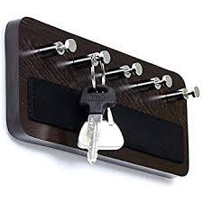 Bluewud Skywood Wall Mounted Key Holder / Key Rack Hooks (Wenge, 5 Keys,