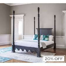 Four Poster Bed Sassy Boo Majestic Four Poster Black Bed Luxury Bed