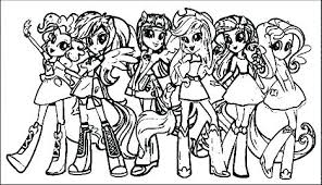 My Little Pony Girls Coloring Pages Dream Equestria Twilight Sparkle