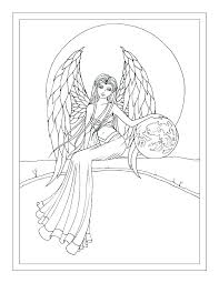 Dark Angel Coloring Pages Free Printable Unicorn Disney For Adults