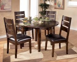Glass Dining Table Set 4 Chairs Round Glass Top Dining Table Set W 4 Wood Back Side Chairs Eva