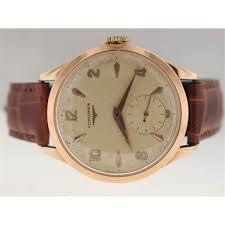 longines mens rose gold vintage watch