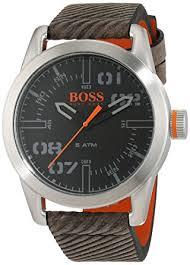 hugo boss orange oslo men s quartz analogue classic grey leather hugo boss orange oslo men s quartz analogue classic grey leather strap 1513417