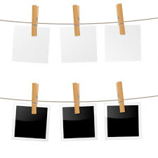Hanging Pictures hanging photos of vector material  over millions vectors,  stock