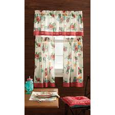 Kitchen Curtains Coffee Theme Pioneer Woman Kitchen Curtain And Valance 3pc Set Country Garden