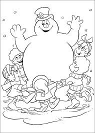 Small Picture Kids n funcom 24 coloring pages of Frosty the Snowman