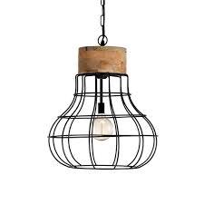 Tafellamp Industriële Lamp Zes10 Collectie Draadstaal ø29cm Zwart