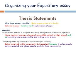 good thesis statements for expository essays how to write a thesis statement for an expository essay