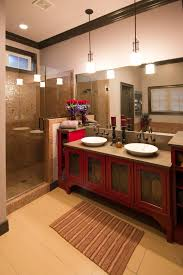 Red Bathroom Cabinet