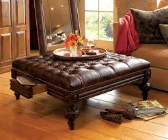 leather ottoman coffee table rectangle cocktail pouf ikea storage cube cream round furniture presence is great