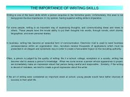 why writing is important essay co why writing is important essay essay writing