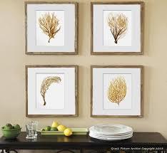 Sea Fan Art Print Sea Coral Prints Set Of 4 Beach Wall Decor In Sea Fan
