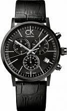 "discontinued watches watch shop comâ""¢ mens calvin klein post minimal black collection chronograph watch k7627401"