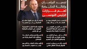 تجميد البرلمان وإقالة الحكومة - الرئيس التونسي قيس سعيد - YouTube