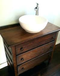 bathroom sink cabinet we meticulously re refinish and quality dressers into vessel vanities diy ideas
