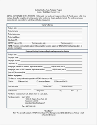 Excel Format Roof Certification Form Template Deaoscura