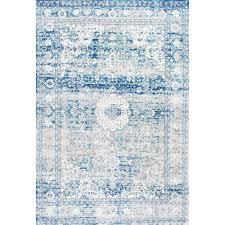 high tech vintage blue area rug 273 8x10 bajpai unglaub project