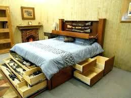 bed frames with headboard storage image of amazing full size bed frame with drawers frames king