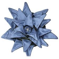 green velvet pillow. Blue Dahlia Throw Pillow, Unusual Silk \u0026 Green Velvet Pillow For