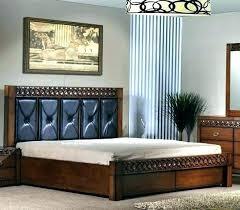 dark wood bedroom king size bed frame wooden with master diy