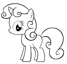 Printable Colouring Pictures Free My Little Pony Coloring Pages For