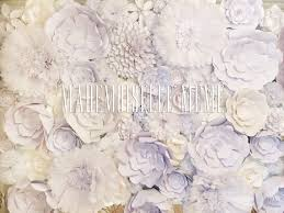 White Paper Flower Wall Lifestyle Make A Paper Flower Wall