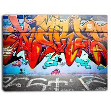designart melbourne street art abstract graffiti canvas art print on wall art melbourne street with designart melbourne street art abstract graffiti canvas art