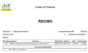 Modelo De Recibo Recibos Wiki Aix