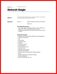 Dental Receptionist Resume Objective dental front desk resume apa example 90