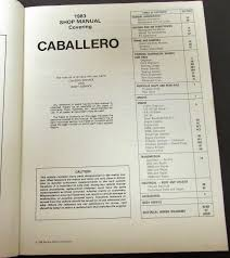 gmc truck dealer service shop manual caballero repair 1983 gmc truck dealer service shop manual caballero repair