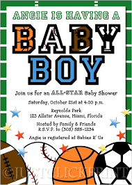 Football Invites Tailgate Baby Shower Invitations All StarBaby Shower Invitations Sports Theme