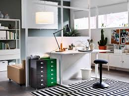 home office ideas ikea. A Home Office Inside The Living Room With Desk In Ash Veneer And Swivel Ideas Ikea H