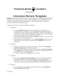 Lit Review A Literature Review Under Fontanacountryinn Com