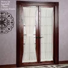 Decorating: White 2 Door Patio Curtain Panels - Patio Door Curtain Ideas