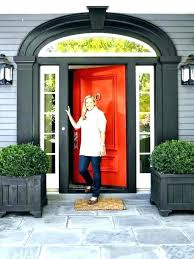 Orange front door Inside Bright Front Door Orange Door Orange Front Door Gray House White Trim Orange Door Bright Orange Bright Front Door Rememberdannywayneinfo Bright Front Door Green Door Meaning Best Bright Front Doors Ideas
