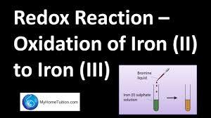 redox reaction oxidation of iron ii to iron iii