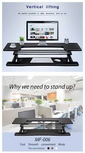 2017 innovative modern office standing desk preassembled adjule height stand up desk computer workstation lift rising laptop