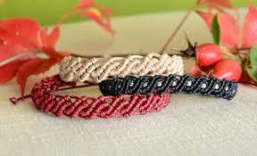 Macrame Bracelet Patterns Mesmerizing DIY Wavy Macrame Bracelets