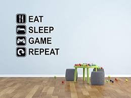 Eat Sleep Game Repeat Wall Decal - Gaming Wall ... - Amazon.com
