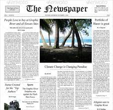 Newspaper Template After Effects Free 12 Newspaper Front Page Templates Free Sample Example Format
