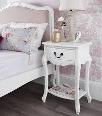 1 drawer bedside table statement furniture juliette antique white