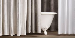 white linen shower curtain cotton collection rh belgian black and extra long curtains solid 2